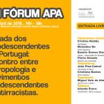 VIII Fórum APA – Década dos Afrodescendentes em Portugal | 14 de abril | Auditório da Biblioteca Municipal Orlando Ribeiro