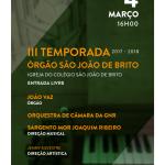 III Temporada de órgão de São João de Brito | 4 de março | Igreja do Colégio São João de Brito de Lisboa
