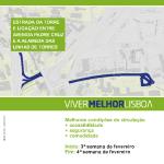 Reposição de pavimentos | 12 de fevereiro | Estrada da Torre e na ligação entra a Alameda das Linhas de Torres e a Av.ª Padre Cruz