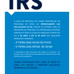 Preenchimento das declarações de IRS | 3 de abril e até 29 de maio