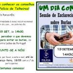 Um dia com… Sessão de esclarecimento sobre burlas | 19 de setembro de 18 | Leões de Portugal