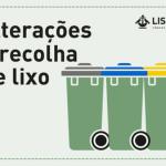 Alterações à recolha de lixo no Dia de Santo António | 3 para 14 de junho 2019